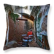 The Barbershop Chair Throw Pillow