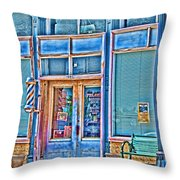 The Barbershop Hdr Throw Pillow