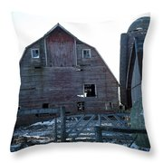 The Barn 3 Throw Pillow