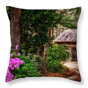 The Barn In Spring Throw Pillow