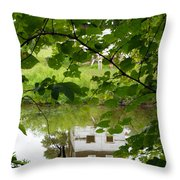 The Barn In The Water Throw Pillow