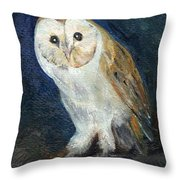 The Barn Owl Throw Pillow