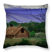 The Barn Throw Pillow by Robert Bales