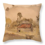 The Barns Throw Pillow