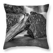 The Base Of The Falls Throw Pillow