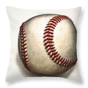 The Baseball Throw Pillow