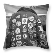 The Baseball Fan Throw Pillow by Frank Romeo