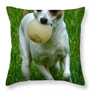 The Baseball Girl Throw Pillow