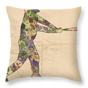 The Baseball Player Throw Pillow