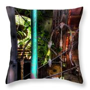 The Basement Stairs Throw Pillow