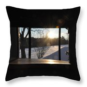 The Basement Window Throw Pillow