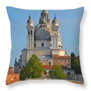 The Basilica Di Santa Maria Della Salute Throw Pillow