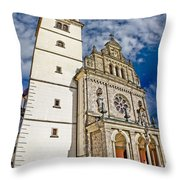 The Basilica In Mary Of Bistrica Throw Pillow