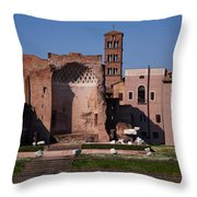 The Basilica Of Constantine Throw Pillow