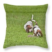 The Bassets Throw Pillow