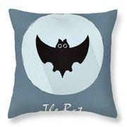 The Bat Cute Portrait Throw Pillow
