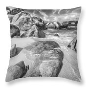 The Baths In Black And White Throw Pillow