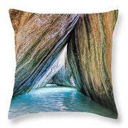 The Baths Virgin Gorda British Virgin Islands Throw Pillow