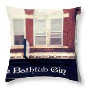 The Bathtub Gin Throw Pillow