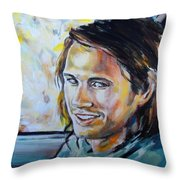 The Battery Is Dead Throw Pillow