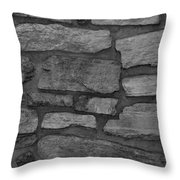 The Battery Wall In Black And White Throw Pillow