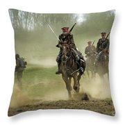 The Battle Throw Pillow by Angel  Tarantella