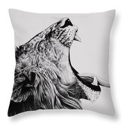 The Battle Throw Pillow