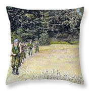 The Battle For Croatia Throw Pillow