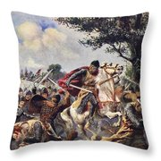 The Battle Of Bouvines, 1214 Throw Pillow