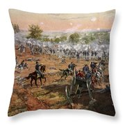 The Battle Of Gettysburg, July 1st-3rd Throw Pillow
