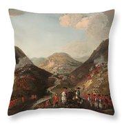 The Battle Of Glen Shiel 1719 Throw Pillow