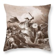 The Battle Of Hastings, Engraved Throw Pillow
