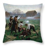 The Battle Of Lexington, 19th April 1775 Throw Pillow