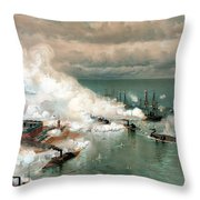 The Battle Of Mobile Bay Throw Pillow