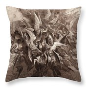 The Battle Of The Angels Throw Pillow