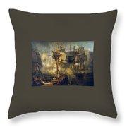 The Battle Of Trafalgar Throw Pillow