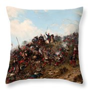 The Battle Of Trevino Throw Pillow