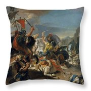The Battle Of Vercellae Throw Pillow