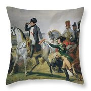 The Battle Of Wagram, 6th July 1809, 1836 Oil On Canvas Throw Pillow