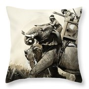 The Battle Of Zama In 202 Bc Throw Pillow