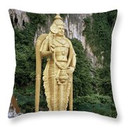 The Batu Caves Throw Pillow