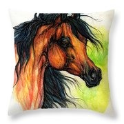 The Bay Arabian Horse 11 Throw Pillow