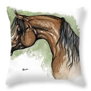 The Bay Arabian Horse 12 Throw Pillow