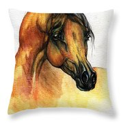 The Bay Arabian Horse 14 Throw Pillow
