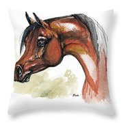 The Bay Arabian Horse 15 Throw Pillow