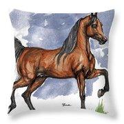 The Bay Arabian Horse 17 Throw Pillow