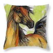 The Bay Arabian Horse 5 Throw Pillow