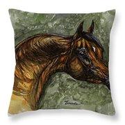 The Bay Arabian Horse Throw Pillow