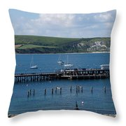 The Bay At Swanage Throw Pillow