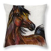The Bay Horse 1 Throw Pillow